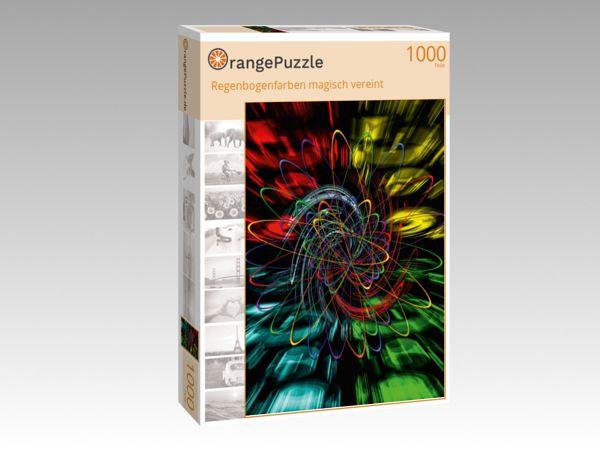 """Puzzle Motiv """"Regenbogenfarben magisch vereint"""" - Puzzle-Schachtel zu 1000 Teile Puzzle"""