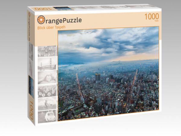 "Puzzle Motiv ""Blick über Taipeh"" - Puzzle-Schachtel zu 1000 Teile Puzzle"