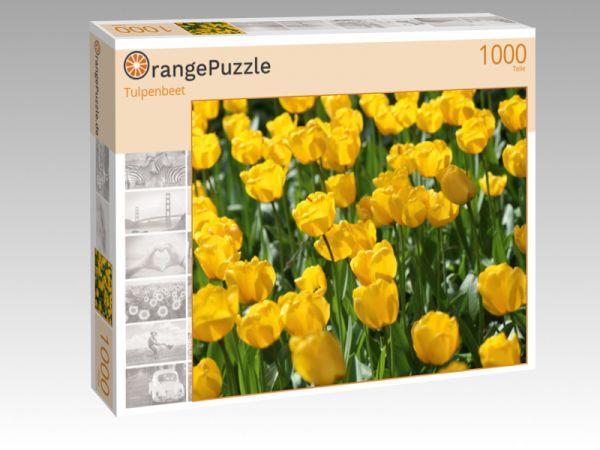 """Puzzle Motiv """"Tulpenbeet"""" - Puzzle-Schachtel zu 1000 Teile Puzzle"""