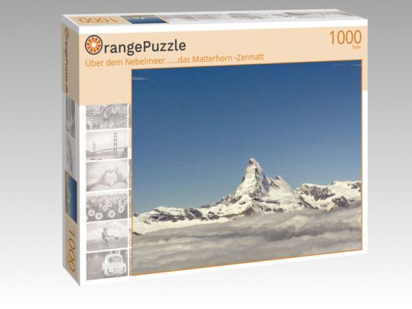 """Puzzle Motiv """"Über dem Nebelmeer......das Matterhorn -Zermatt"""" - Puzzle-Schachtel zu 1000 Teile Puzzle"""