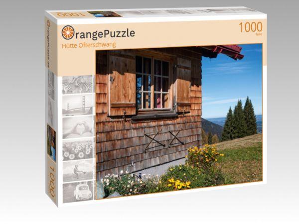 """Puzzle Motiv """"Hütte Ofterschwang"""" - Puzzle-Schachtel zu 1000 Teile Puzzle"""