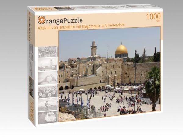 """Puzzle Motiv """"Altstadt von Jerusalem mit Klagemauer und Felsendom"""" - Puzzle-Schachtel zu 1000 Teile Puzzle"""