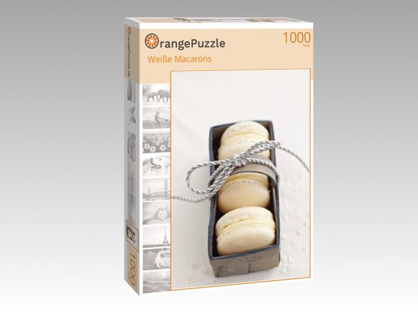"Puzzle Motiv ""Weiße Macarons"" - Puzzle-Schachtel zu 1000 Teile Puzzle"