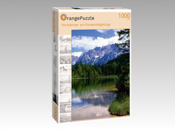"""Puzzle Motiv """"Ferchensee  am Karwendelgebirge"""" - Puzzle-Schachtel zu 1000 Teile Puzzle"""