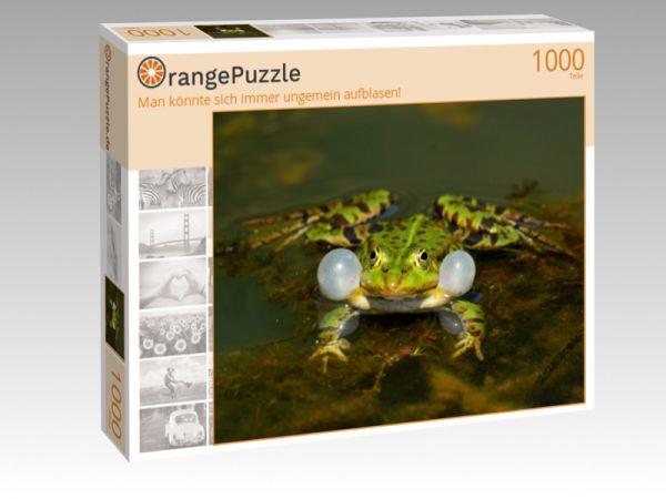 """Puzzle Motiv """"Man könnte sich immer ungemein aufblasen!"""" - Puzzle-Schachtel zu 1000 Teile Puzzle"""