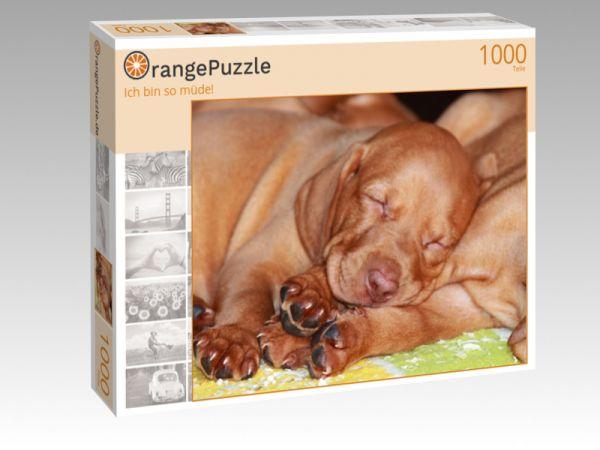 """Puzzle Motiv """"Ich bin so müde!"""" - Puzzle-Schachtel zu 1000 Teile Puzzle"""