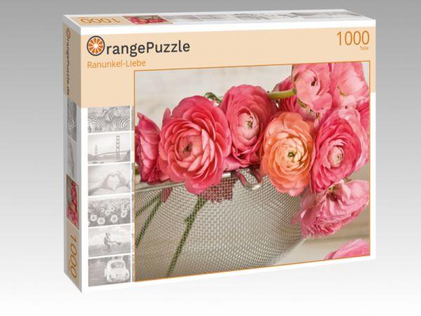 "Puzzle Motiv ""Ranunkel-Liebe"" - Puzzle-Schachtel zu 1000 Teile Puzzle"