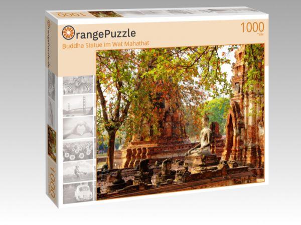 "Puzzle Motiv ""Buddha Statue im Wat Mahathat"" - Puzzle-Schachtel zu 1000 Teile Puzzle"