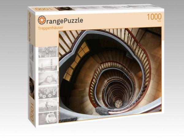"""Puzzle Motiv """"Treppenhäuser"""" - Puzzle-Schachtel zu 1000 Teile Puzzle"""