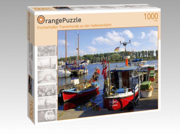 """Puzzle Motiv """"Fischerhafen Travemünde an der Hafeneinfahrt"""" - Puzzle-Schachtel zu 1000 Teile Puzzle"""