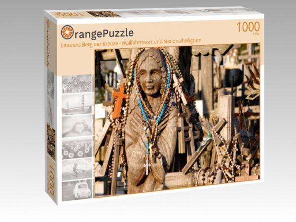 """Puzzle Motiv """"Litauens Berg der Kreuze - Wallfahrtssort und Nationalheiligtum"""" - Puzzle-Schachtel zu 1000 Teile Puzzle"""