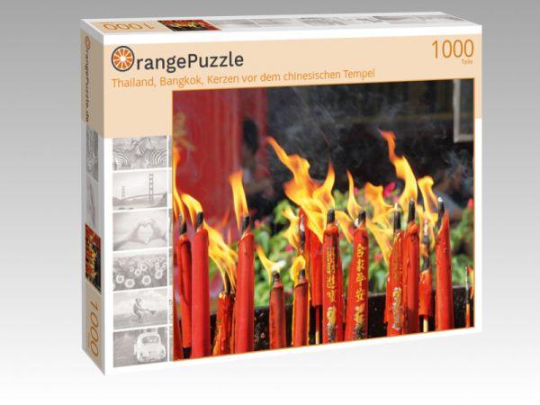 """Puzzle Motiv """"Thailand, Bangkok, Kerzen vor dem chinesischen Tempel"""" - Puzzle-Schachtel zu 1000 Teile Puzzle"""