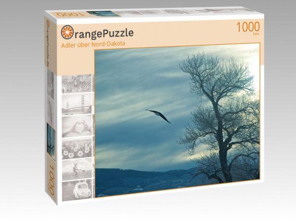 """Puzzle Motiv """"Adler über Nord-Dakota"""" - Puzzle-Schachtel zu 1000 Teile Puzzle"""