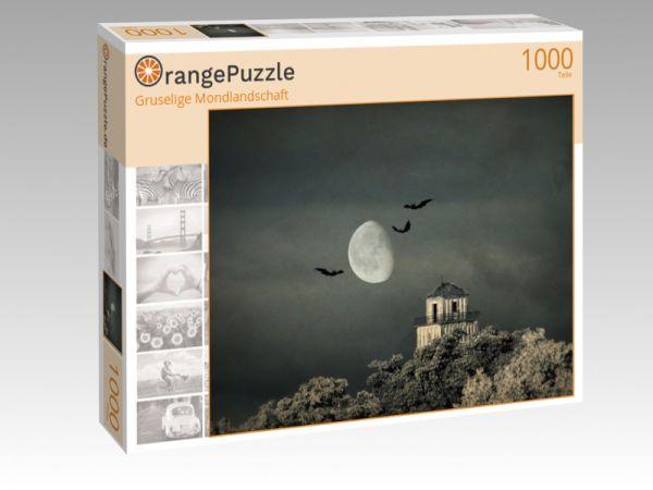 """Puzzle Motiv """"Gruselige Mondlandschaft"""" - Puzzle-Schachtel zu 1000 Teile Puzzle"""