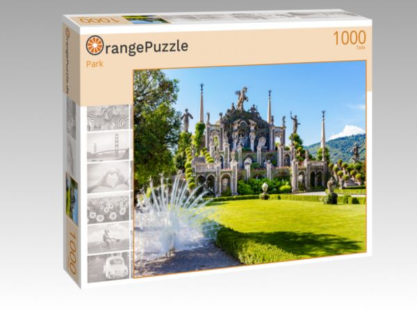 """Puzzle Motiv """"Park"""" - Puzzle-Schachtel zu 1000 Teile Puzzle"""