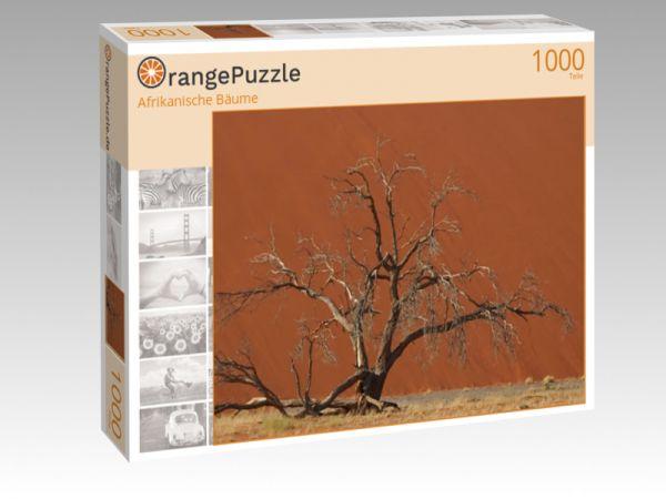 "Puzzle Motiv ""Afrikanische Bäume"" - Puzzle-Schachtel zu 1000 Teile Puzzle"