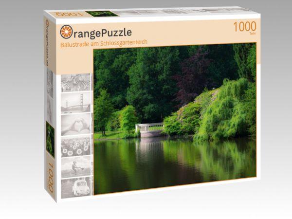 """Puzzle Motiv """"Balustrade am Schlossgartenteich"""" - Puzzle-Schachtel zu 1000 Teile Puzzle"""