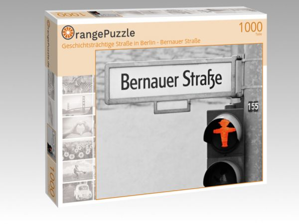 """Puzzle Motiv """"Geschichtsträchtige Straße in Berlin - Bernauer Straße"""" - Puzzle-Schachtel zu 1000 Teile Puzzle"""