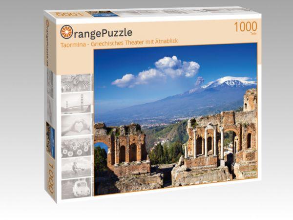 """Puzzle Motiv """"Taormina - Griechisches Theater mit Ätnablick"""" - Puzzle-Schachtel zu 1000 Teile Puzzle"""