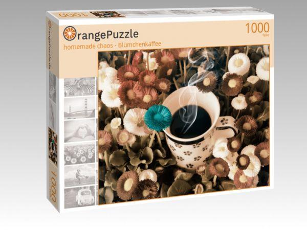 "Puzzle Motiv ""homemade chaos - Blümchenkaffee"" - Puzzle-Schachtel zu 1000 Teile Puzzle"