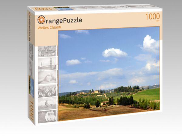 """Puzzle Motiv """"Weites Chianti"""" - Puzzle-Schachtel zu 1000 Teile Puzzle"""