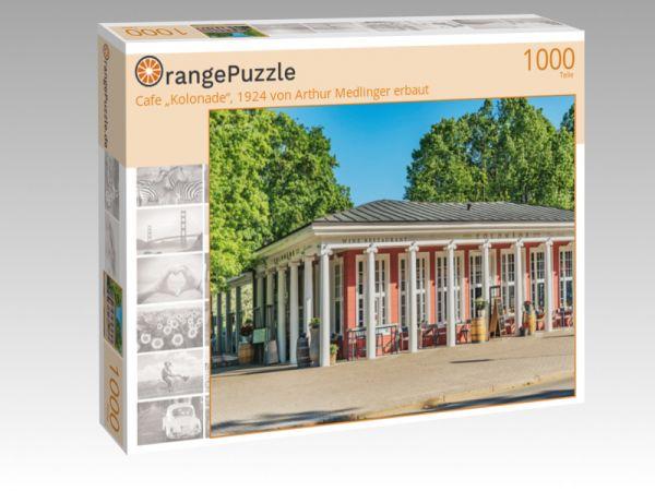 """Puzzle Motiv """"Cafe """"Kolonade"""", 1924 von Arthur Medlinger erbaut"""" - Puzzle-Schachtel zu 1000 Teile Puzzle"""