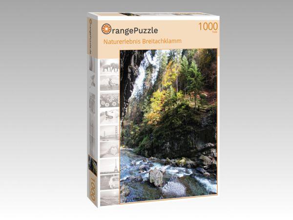 """Puzzle Motiv """"Naturerlebnis Breitachklamm"""" - Puzzle-Schachtel zu 1000 Teile Puzzle"""