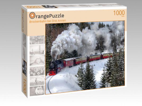 """Puzzle Motiv """"Brockenbahn bei Drei Annen"""" - Puzzle-Schachtel zu 1000 Teile Puzzle"""