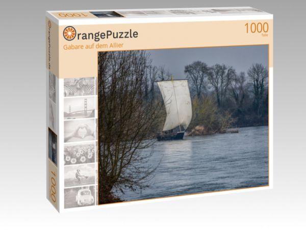 """Puzzle Motiv """"Gabare auf dem Allier"""" - Puzzle-Schachtel zu 1000 Teile Puzzle"""