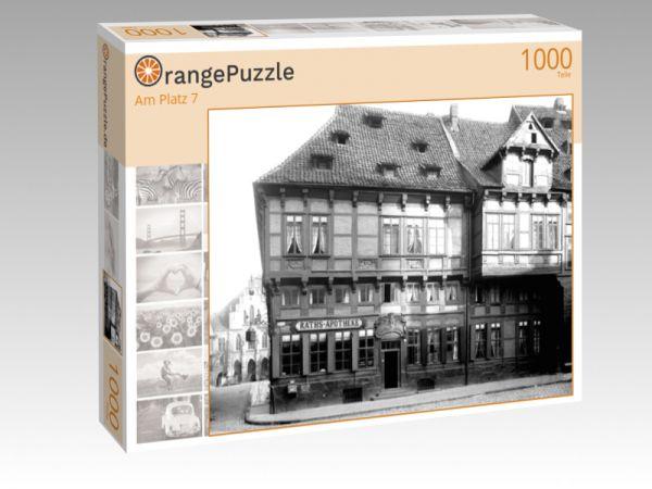 """Puzzle Motiv """"Am Platz 7"""" - Puzzle-Schachtel zu 1000 Teile Puzzle"""