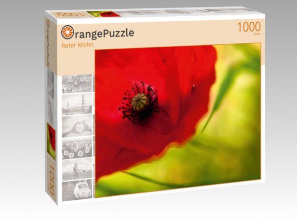"""Puzzle Motiv """"Roter Mohn"""" - Puzzle-Schachtel zu 1000 Teile Puzzle"""