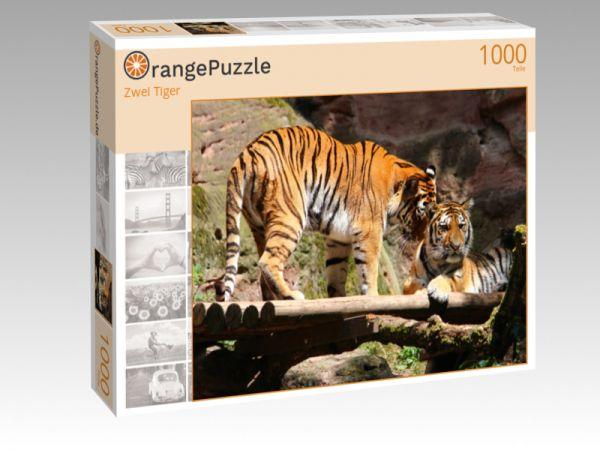 "Puzzle Motiv ""Zwei Tiger"" - Puzzle-Schachtel zu 1000 Teile Puzzle"