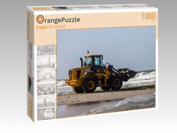 """Puzzle Motiv """"Bagger am Strand"""" - Puzzle-Schachtel zu 1000 Teile Puzzle"""