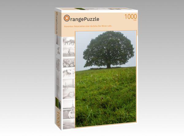"""Puzzle Motiv """"November: Nebel ziehen über die Eiche. Der Winter naht."""" - Puzzle-Schachtel zu 1000 Teile Puzzle"""