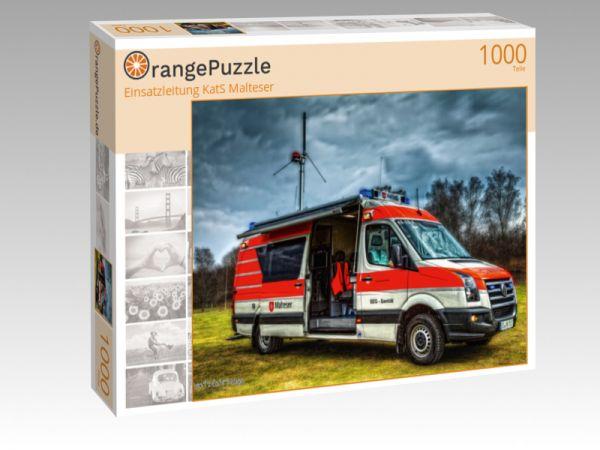 "Puzzle Motiv ""Einsatzleitung KatS Malteser"" - Puzzle-Schachtel zu 1000 Teile Puzzle"