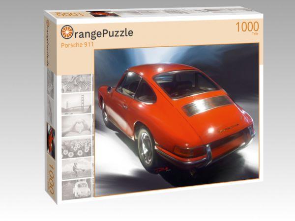 """Puzzle Motiv """"Porsche 911"""" - Puzzle-Schachtel zu 1000 Teile Puzzle"""