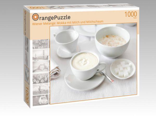 """Puzzle Motiv """"Wiener Melange: Mokka mit Milch und Milchschaum"""" - Puzzle-Schachtel zu 1000 Teile Puzzle"""