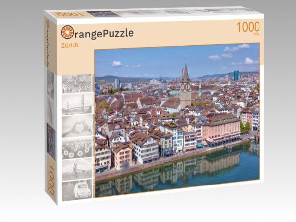 """Puzzle Motiv """"Zürich"""" - Puzzle-Schachtel zu 1000 Teile Puzzle"""