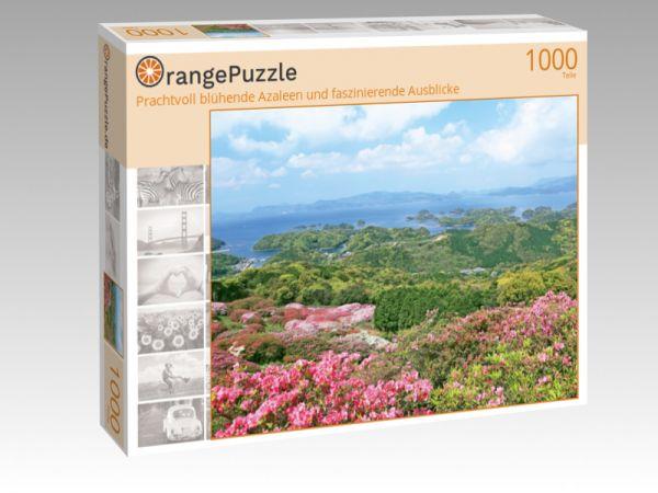 """Puzzle Motiv """"Prachtvoll blühende Azaleen und faszinierende Ausblicke"""" - Puzzle-Schachtel zu 1000 Teile Puzzle"""