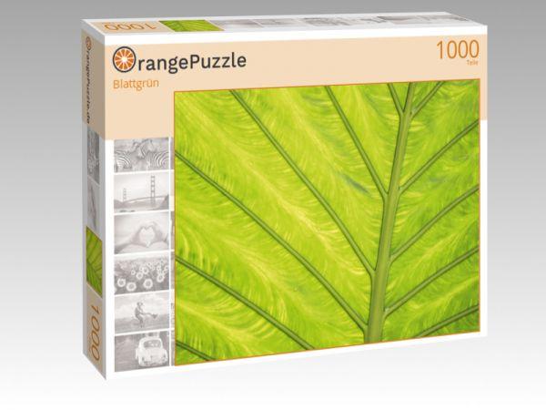 "Puzzle Motiv ""Blattgrün"" - Puzzle-Schachtel zu 1000 Teile Puzzle"