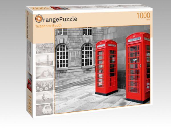 """Puzzle Motiv """"Telephone Booth"""" - Puzzle-Schachtel zu 1000 Teile Puzzle"""
