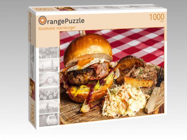 """Puzzle Motiv """"Rustikaler Hamburger"""" - Puzzle-Schachtel zu 1000 Teile Puzzle"""