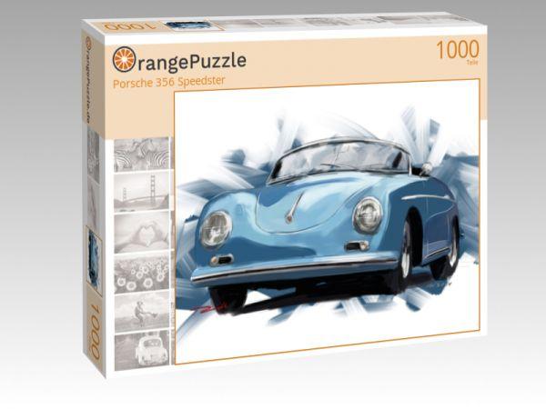 """Puzzle Motiv """"Porsche 356 Speedster"""" - Puzzle-Schachtel zu 1000 Teile Puzzle"""