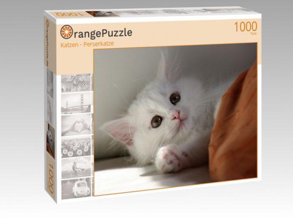 "Puzzle Motiv ""Katzen - Perserkatze"" - Puzzle-Schachtel zu 1000 Teile Puzzle"