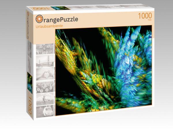 "Puzzle Motiv ""Urlaubsambiente"" - Puzzle-Schachtel zu 1000 Teile Puzzle"