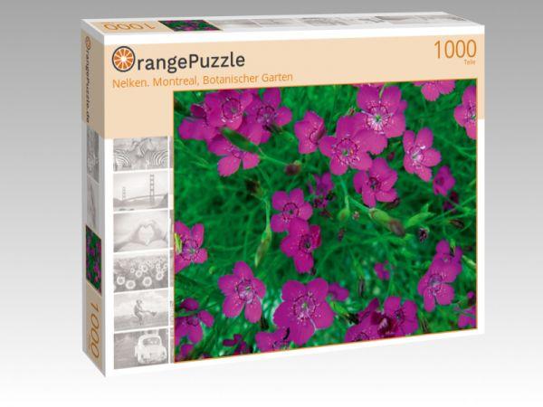 """Puzzle Motiv """"Nelken. Montreal, Botanischer Garten"""" - Puzzle-Schachtel zu 1000 Teile Puzzle"""