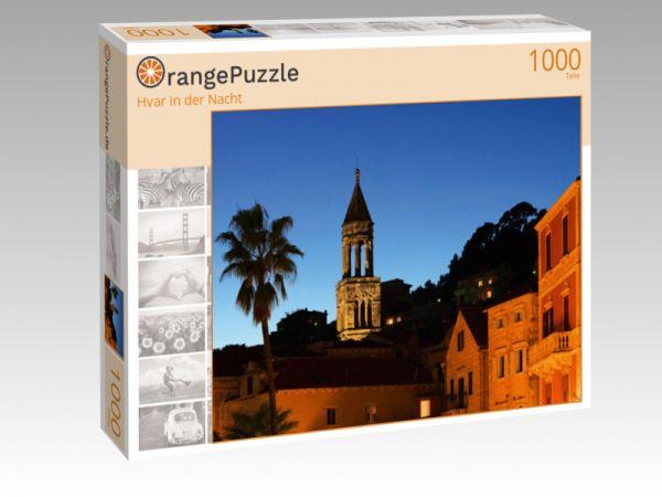 """Puzzle Motiv """"Hvar in der Nacht"""" - Puzzle-Schachtel zu 1000 Teile Puzzle"""