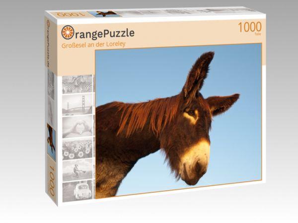 "Puzzle Motiv ""Großesel an der Loreley"" - Puzzle-Schachtel zu 1000 Teile Puzzle"