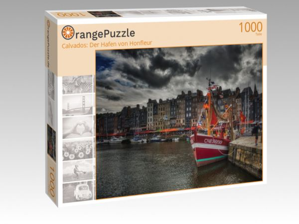 """Puzzle Motiv """"Calvados: Der Hafen von Honfleur"""" - Puzzle-Schachtel zu 1000 Teile Puzzle"""