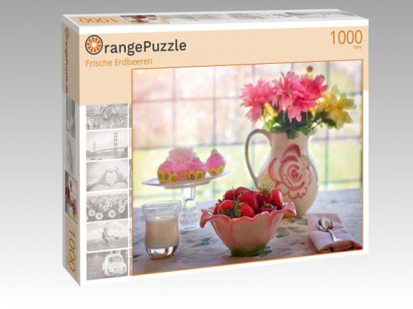 """Puzzle Motiv """"Frische Erdbeeren"""" - Puzzle-Schachtel zu 1000 Teile Puzzle"""